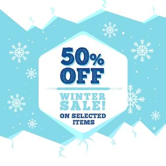 Flat design winter sale style