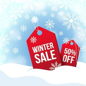 Flat design winter sale
