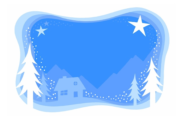 Flat design winter wallpaper