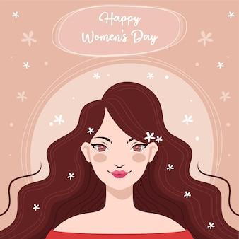 여성의 날의 손으로 그린 개념으로 평면 디자인