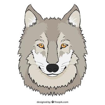 평면 디자인 늑대