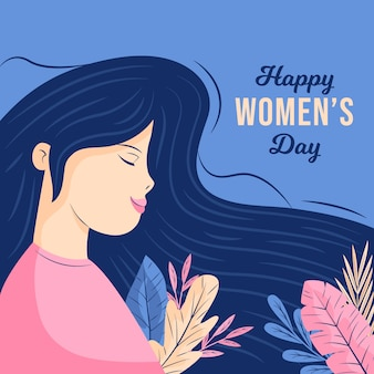Flat design women's day wallpaper