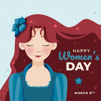 Flat design womens day advocay