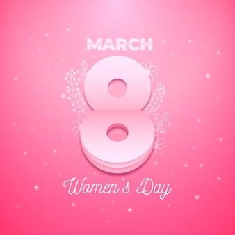 Flat design womens day celebration concept