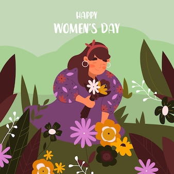 Flat design womens day celebration concept