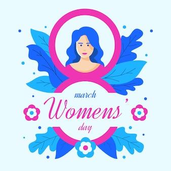Flat design womens day celebration modern concept