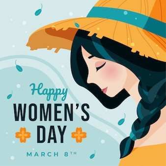 Flat design womens day celebration