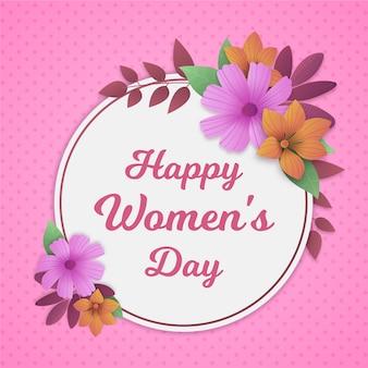 Flat design womens day celebration