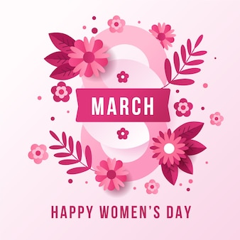Flat design womens day concept