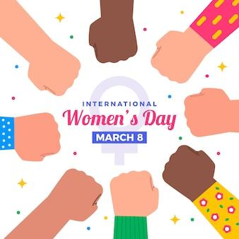 평면 디자인 여성의 날 이벤트 개념