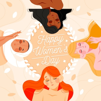 Flat design womens day event concept