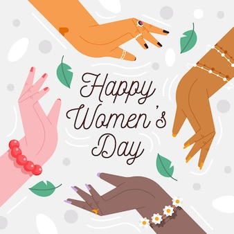 Flat design womens day event design