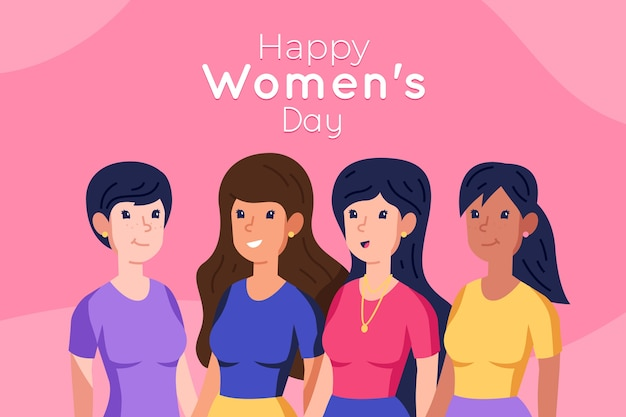 Flat design womens day event theme