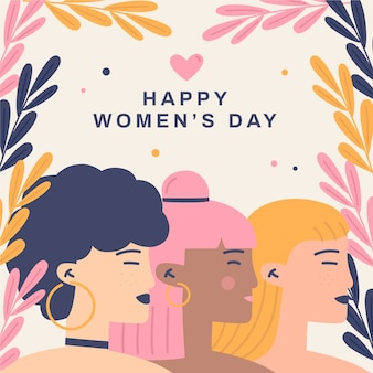 Flat design womens day event