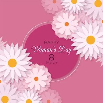 Flat design womens day theme