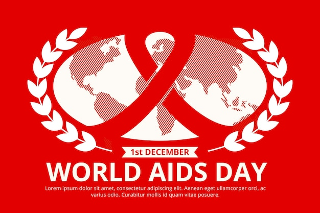 Flat design world aids day event illustrated