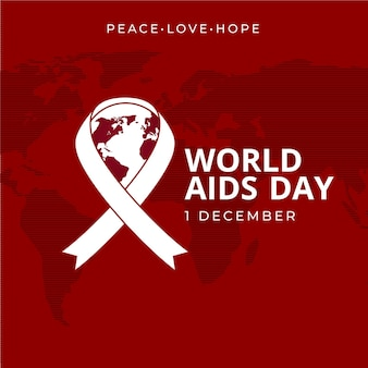 Flat design world aids day event illustration