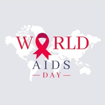 Flat design world aids day symbol