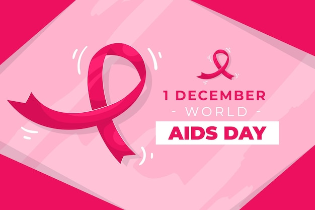 Giornata mondiale contro l'aids design piatto