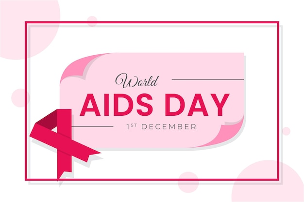 Flat design world aids day