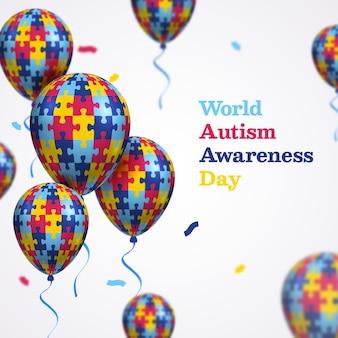 평면 디자인 세계 자폐증 인식의 날