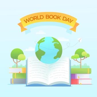 Всемирный день книги, посвященный плоскому дизайну