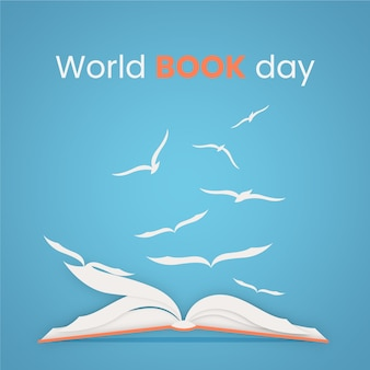 Flat design world book day event