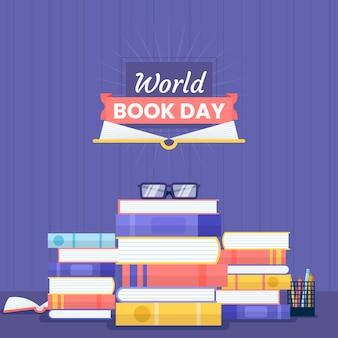 Flat design world book day