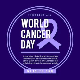 Giornata mondiale del cancro design piatto