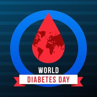 フラットなデザインの世界糖尿病デーのコンセプト