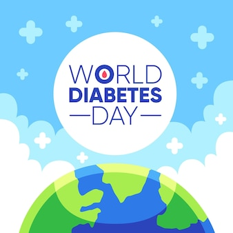 Flat design world diabetes day event