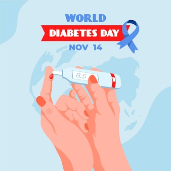 Flat design world diabetes day illustrated