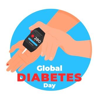 Giornata mondiale del diabete di design piatto