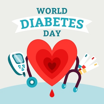 Flat design world diabetes day