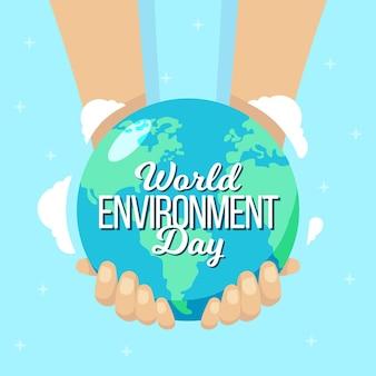 평면 디자인 세계 환경의 날 개념