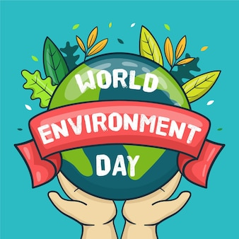 Flat design world environment day Free Vector