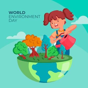 フラットデザインの世界環境デー