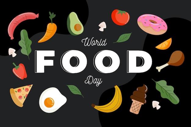 Flat design world food day concept