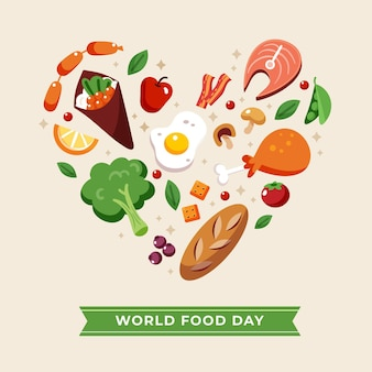 Flat design world food day design