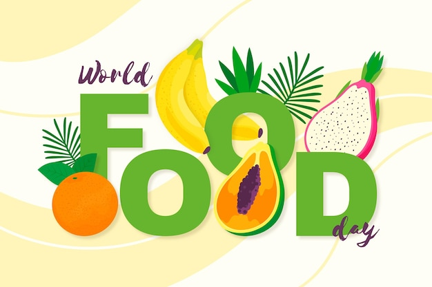 Flat design world food day event