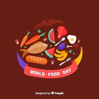 Flat design of world food day