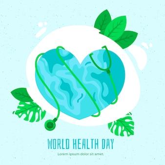 Плоский дизайн всемирный день здоровья дизайн