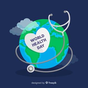 Плоский дизайн всемирный день здоровья иллюстрации