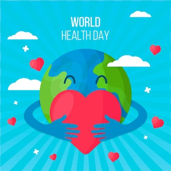 Flat design world health day