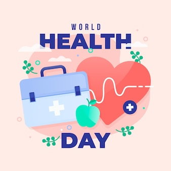Flat design world heathy day celebration