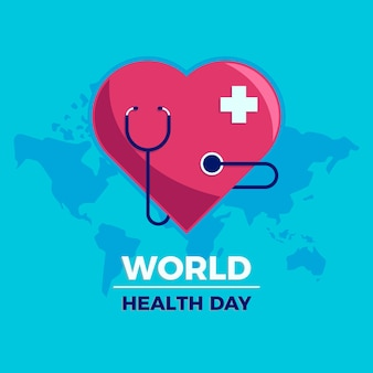Flat design world heathy day concept