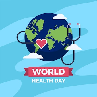 Flat design world heathy day design