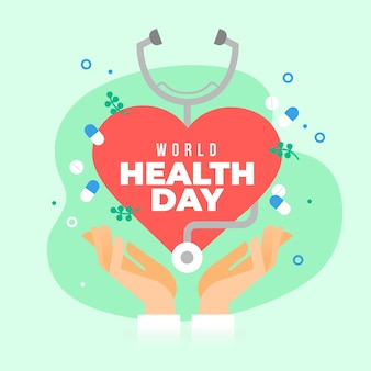 Flat design world heathy day event theme