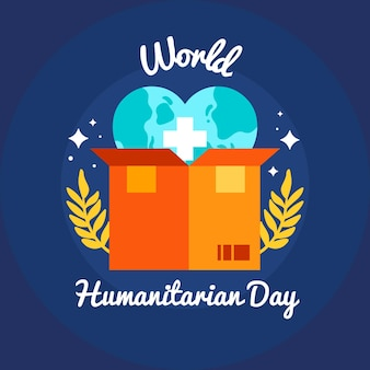 Flat design world humanitarian day concept