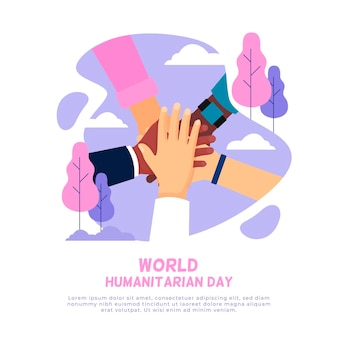 Flat design world humanitarian day event